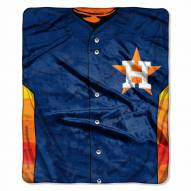 Houston Astros Jersey Raschel Throw Blanket
