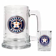 Houston Astros MLB Boilermaker Set - Shot Glass & Tankard Mug