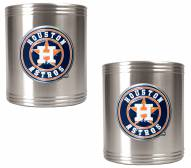 Houston Astros MLB Stainless Steel Can Holder 2-Piece Set