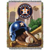 Houston Astros MLB Woven Tapestry Throw Blanket