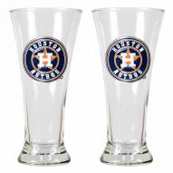 Houston Astros Premiere Pilsner Glass Set