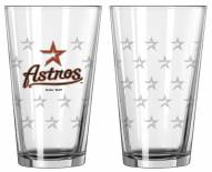 Houston Astros Satin Etch Pint Glass - Set of 2