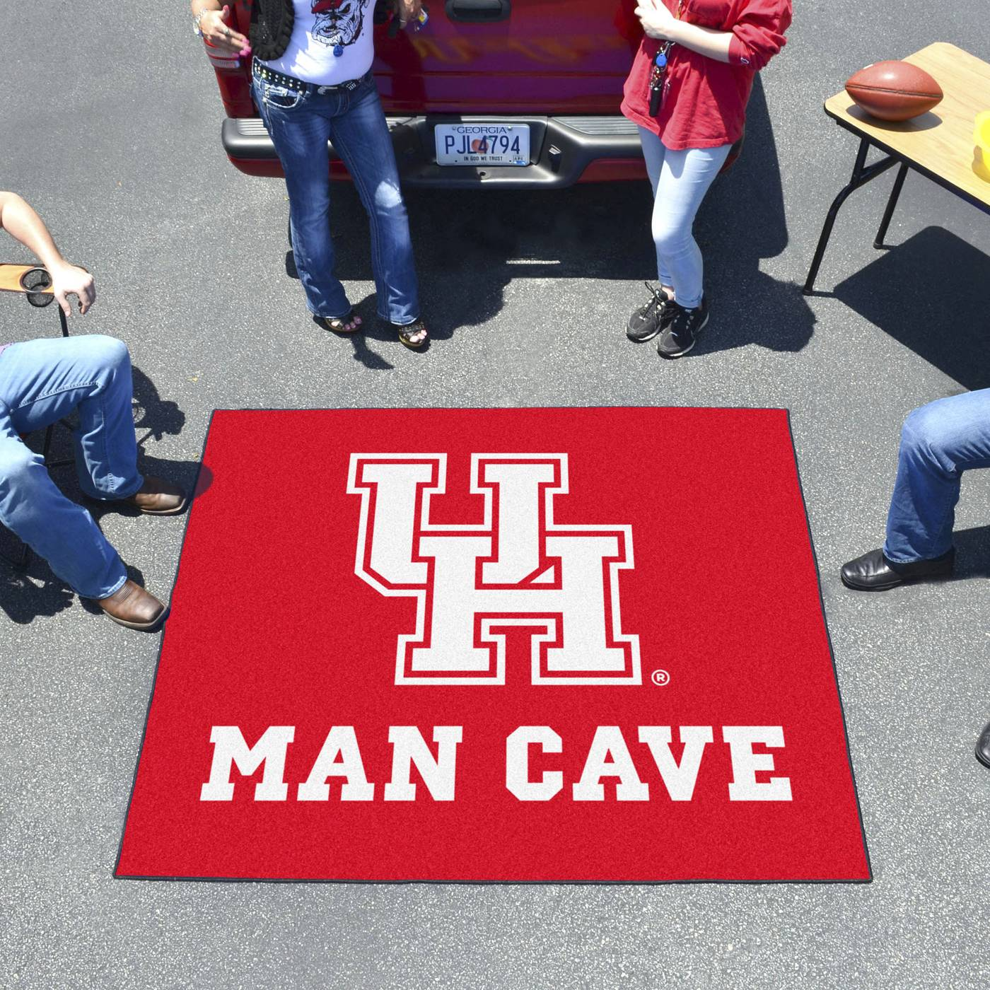 Man Cave Store Houston : Houston cougars man cave tailgate mat