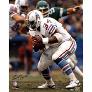 "Houston Oilers Earl Campbell Running White Jersey Signed 16"" x 20"" Photo"