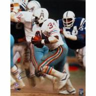"Houston Oilers Earl Campbell Running White Jersey w/ ""HOF"" Signed 16"" x 20"" Photo"