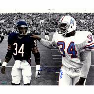"Houston Oilers Earl Campbell Walking With Walter Payton w/ HOF Signed 16"" x 20"" Photo"