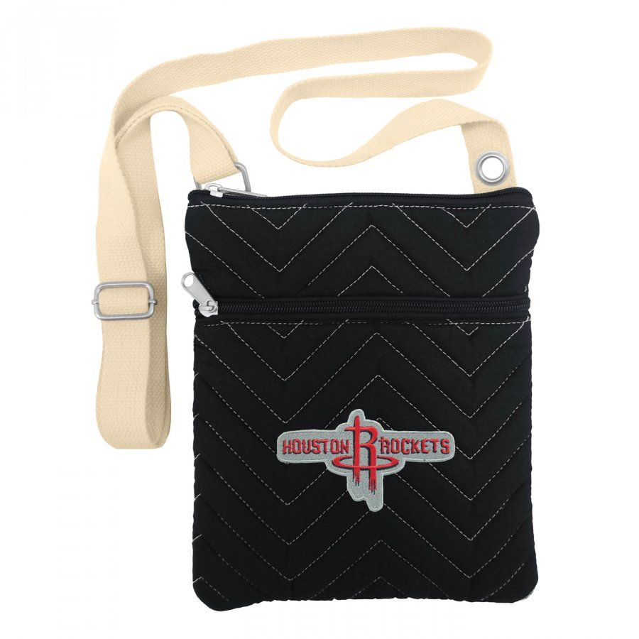 Houston Rockets Chevron Stitch Crossbody Bag