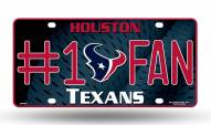 Houston Texans #1 Fan License Plate