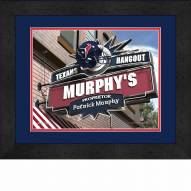 Houston Texans 13 x 16 Personalized Framed Sports Pub Print