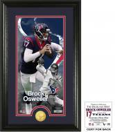 Houston Texans Brock Osweiler Supreme Bronze Coin Panoramic Photo Mint