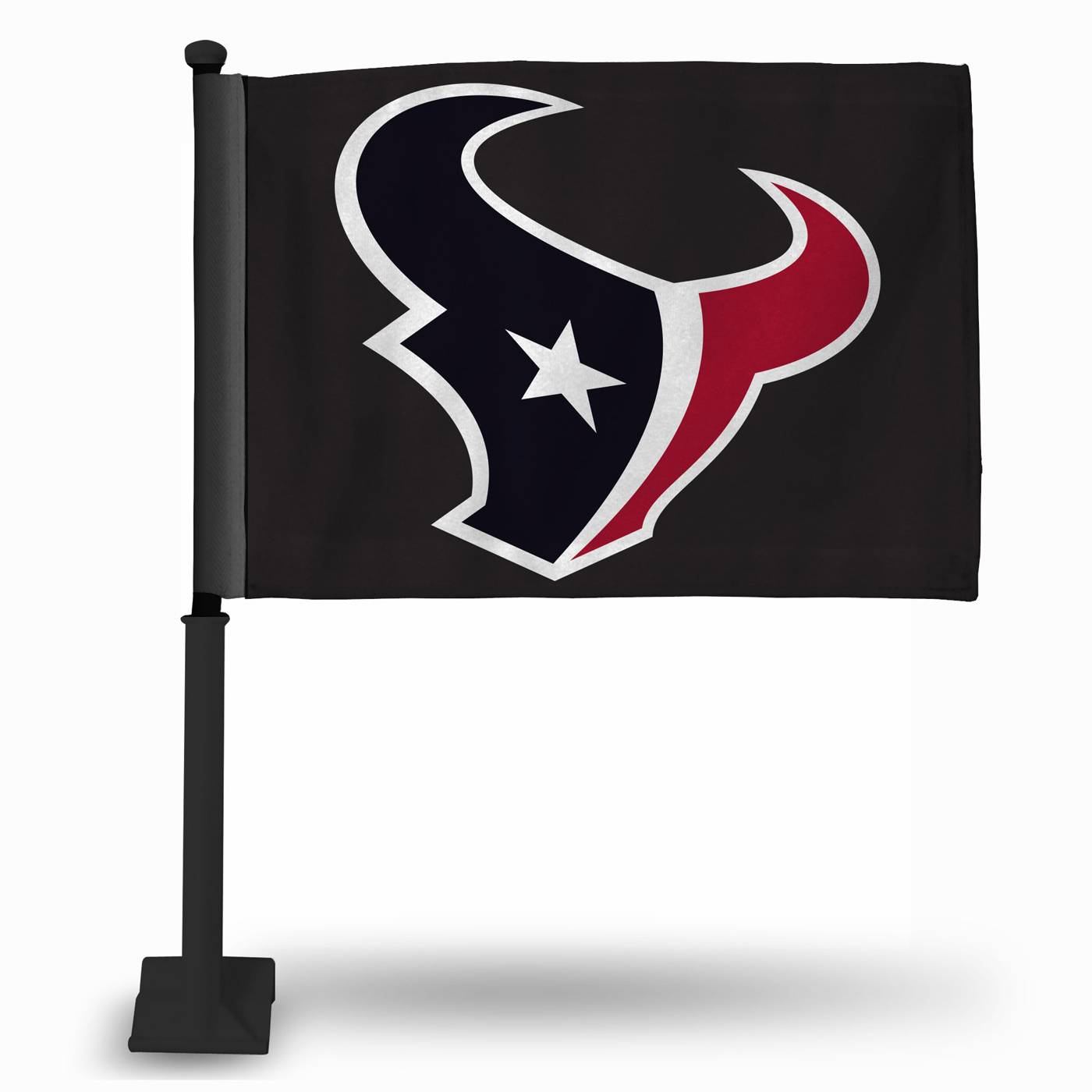 Houston Texans Car Flag With Black Pole