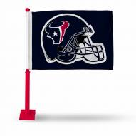 Houston Texans Car Flag with Red Pole