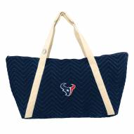 Houston Texans Chevron Stitch Weekender Bag