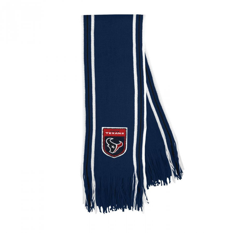 Houston Texans Crest Stripe Fringe Scarf