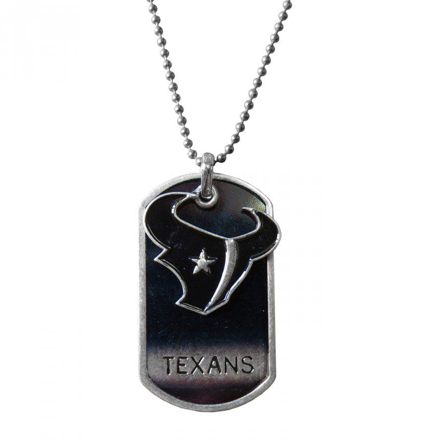 Houston Texans Dog Tag Charm Necklace