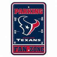 Houston Texans Fan Zone Parking Sign