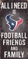 Houston Texans Football, Friends & Family Wood Sign