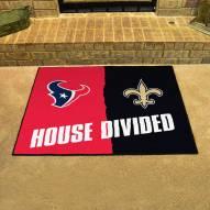 Houston Texans/New Orleans Saints House Divided Mat