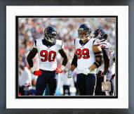 Houston Texans Jadeveon Clowney & J.J. Watt 2014 Action Framed Photo