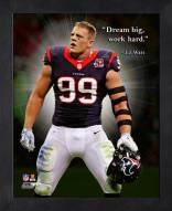 Houston Texans J.J. Watt Framed Pro Quote