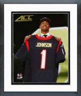 Houston Texans Kevin Johnson 2015 NFL Draft #16 Pick Framed Photo