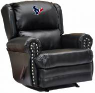 Houston Texans Leather Coach Recliner