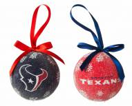 Houston Texans LED Boxed Ornament Set