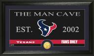 Houston Texans Man Cave Bronze Coin Panoramic Photo Mint
