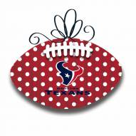 Houston Texans Metal Football Door Decor