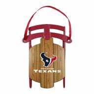 Houston Texans Metal Sled Tree Ornament