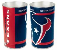 Houston Texans Metal Wastebasket
