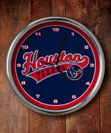 Houston Texans NFL Chrome Wall Clock