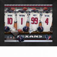 Houston Texans NFL Personalized Locker Room 11 x 14 Framed Photograph