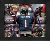 Houston Texans Personalized Framed Action Collage