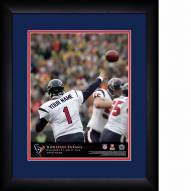 Houston Texans Personalized 13 x 16 NFL Action QB Framed Print