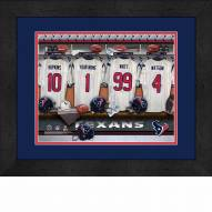 Houston Texans Personalized Locker Room 13 x 16 Framed Photograph