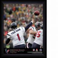 Houston Texans Personalized NFL Action QB Framed Print