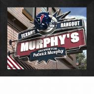 Houston Texans Personalized Framed Sports Pub Print