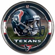 Houston Texans Round Chrome Wall Clock