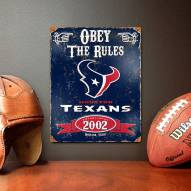 Houston Texans Vintage Metal Sign