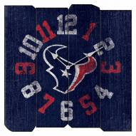Houston Texans Vintage Square Clock