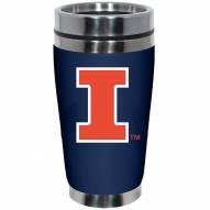 Illinois Fighting Illini 16 oz. Stainless Steel Travel Mug