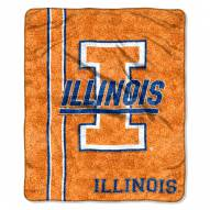 Illinois Fighting Illini Jersey Sherpa Blanket