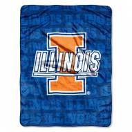 Illinois Fighting Illini Micro Grunge Blanket