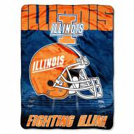 Illinois Fighting Illini Micro Raschel Overtime Blanket