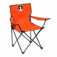 Illinois Fighting Illini Quad Folding Chair