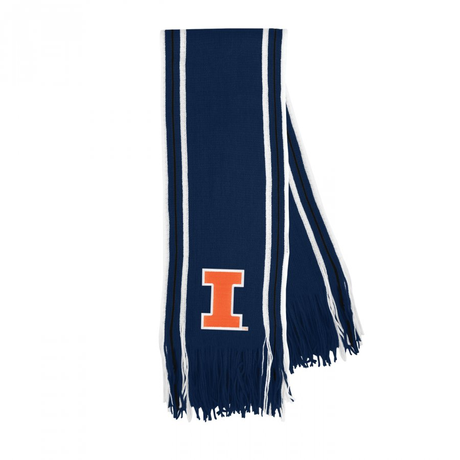 Illinois Fighting Illini Stripe Fringe Scarf