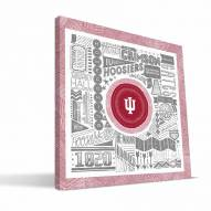 "Indiana Hoosiers 16"" x 16"" Pictograph Canvas Print"