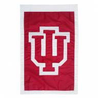 "Indiana Hoosiers 28"" x 44"" Double Sided Applique Flag"
