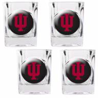 Indiana Hoosiers 4 Piece Square Shot Glasses